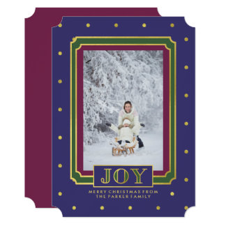 Jewel Tone Christmas Joy with Photo Card