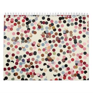 Jewel Tone Confetti Colorful Dots Calendar