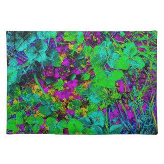 Jewel Tone Garden Impressionist Art Photo Fabric Placemat