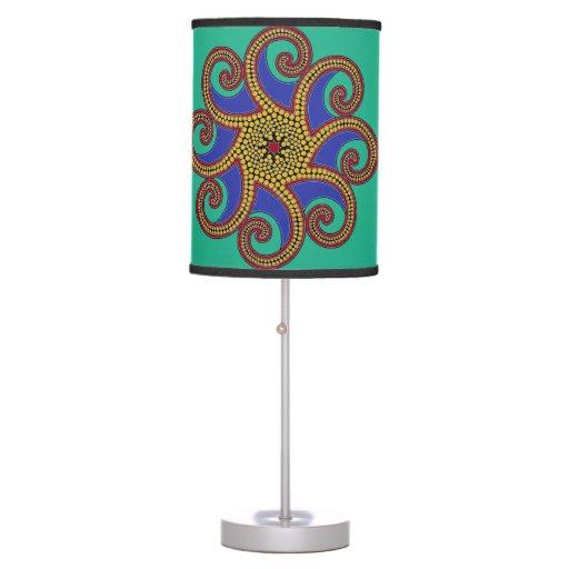 Jewel Tone Octo-Lamp Zazzle