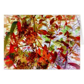 Jewel Tone Vines Garden Art Photo Blank Inside Greeting Cards