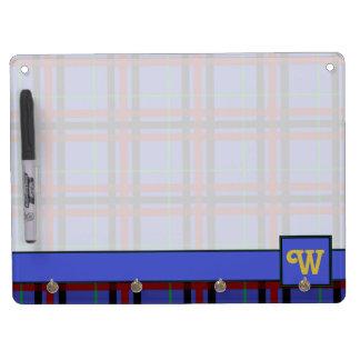 Jewel-Toned Plaid Dry Erase Board