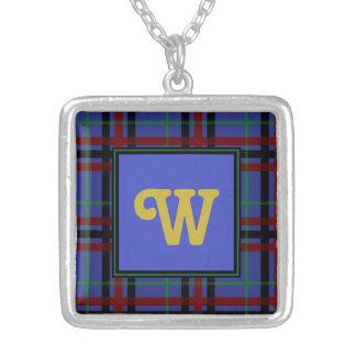 Jewel-Toned Plaid Necklace