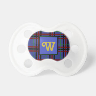 Jewel-Toned Plaid Pacifier