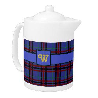 Jewel-Toned Plaid Teapot
