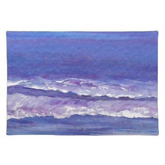 Jewel toned sunset ocean waves seascape gifts cloth placemat