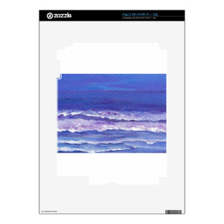 Jewel toned sunset ocean waves seascape gifts skins for iPad 2