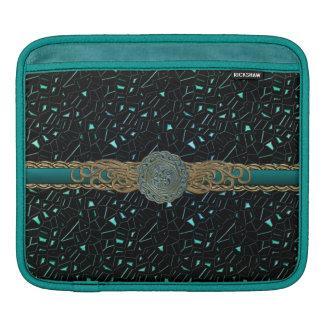 Jewel Toned Teal Blue Green Celtic iPad Sleeve