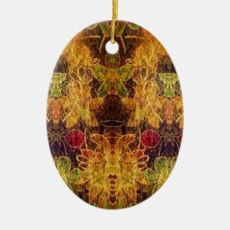 Jewel toned vintage pattern christmas tree ornaments