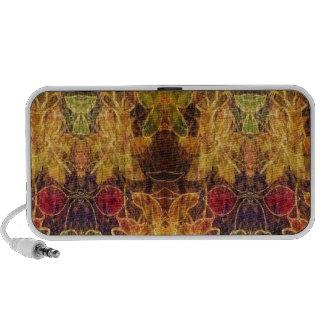 Jewel toned vintage pattern speakers