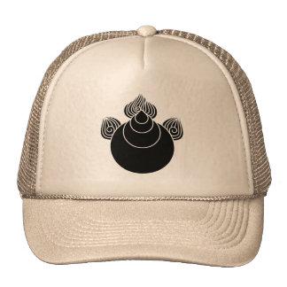 Jewel with flames trucker hat