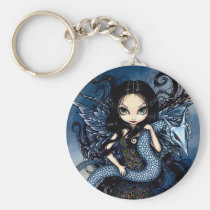 artsprojekt, art, fantasy, eye, eyes, jewele, jewel, jewels, dragon, dragons, silver dragon, silver, wyrm, serpent, big eye, big eyed, jasmine, becket-griffith, becket, griffith, jasmine becket-griffith, jasmin, strangeling, artist, goth, gothic, fairy, gothic fairy, faery, fairies, faerie, fairie, lowbrow, low brow, big eyes, strangling, fantasy art, original, lowbrow art, Keychain with custom graphic design