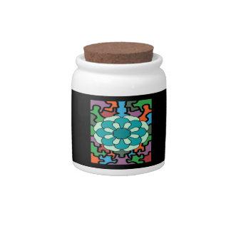 Jeweled Aqua Candy Dishes
