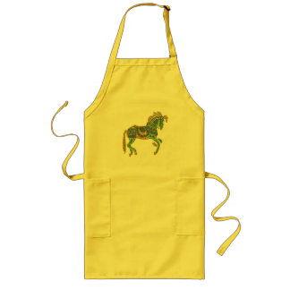 Jeweled Artistic Horse Long Apron