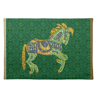 Jeweled Artistic Horse Placemat