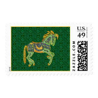 Jeweled Artistic Horse Postage Stamp