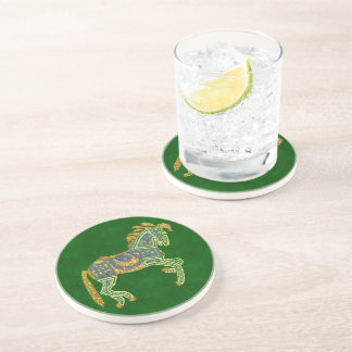 Jeweled Artistic Horse Sandstone Coaster