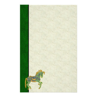 Jeweled Artistic Horse Stationery Paper