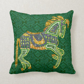 Jeweled Artistic Horse Throw Pillow