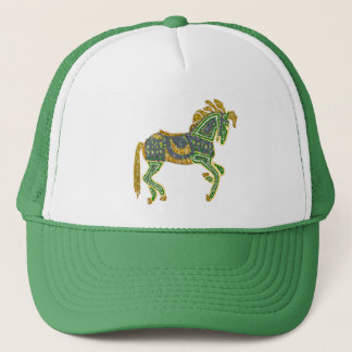 Jeweled Artistic Horse Trucker Hat