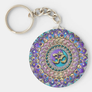 Jeweled Astrosymbology Mandala Keychain