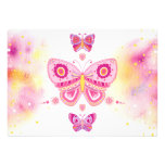 Jeweled Butterflies Party Invitation