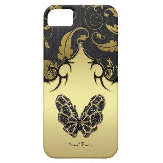 Jeweled Butterfly Damask - Customize iPhone 5 Cases