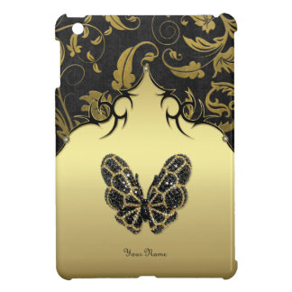 Jeweled Butterfly Damask - Customize Cover For The iPad Mini