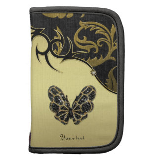 Jeweled Butterfly Damask - Customize Planner