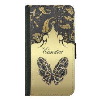 Jeweled Butterfly Damask - Galaxy S5