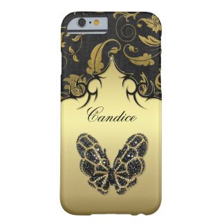Jeweled Butterfly Damask iPhone 6 Case