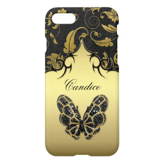 Jeweled Butterfly Damask iPhone 7 Case