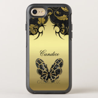 Jeweled Butterfly Damask OtterBox Symmetry iPhone 7 Case