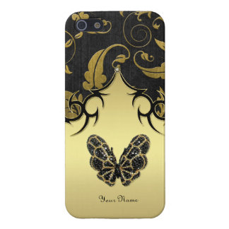 Jeweled Butterfly Damask - Remove iPhone 5 Covers