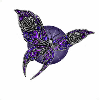 Jeweled Butterfly digital art ornament