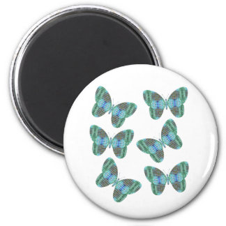 Jeweled Butterfly illustration 2 Inch Round Magnet