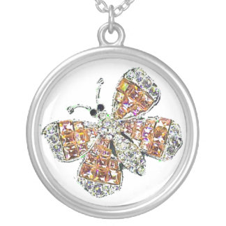 Jeweled Butterfly Necklace