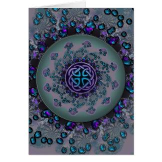Jeweled Celtic Fractal Mandala Greeting Card