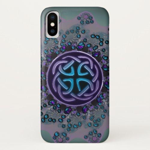 Jeweled Celtic Fractal Mandala iPhone X Case Phone Case