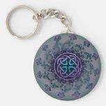 Jeweled Celtic Fractal Mandala Keychain