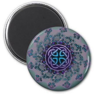 Jeweled Celtic Fractal Mandala Magnet