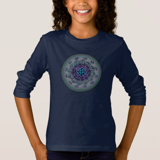Jeweled Celtic Fractal Mandala T-Shirt