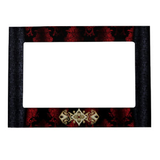 Jeweled Clip Damask Vampire Goth Wedding Magnetic Picture Frame