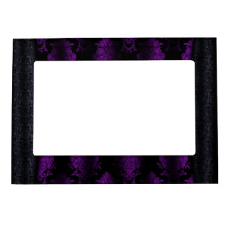 Jeweled Clip Damask Vampire Goth Wedding Picture Frame Magnet