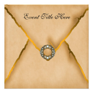 Jeweled Custom New Years Party Invitation