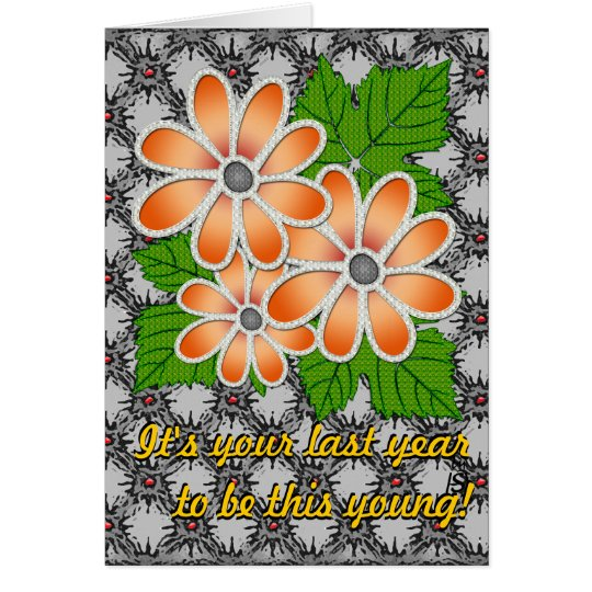 Jeweled Daisy #2 (Birthday Card) Card