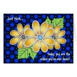 Jeweled Daisy (Birthday Card)