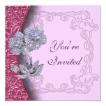 Jeweled Diamond Flowers Party Invitation