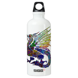 Jeweled Dragon Aluminum Water Bottle