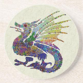 Jeweled Dragon Beverage Coaster